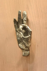O.K. hand sculpture Pull or Knob