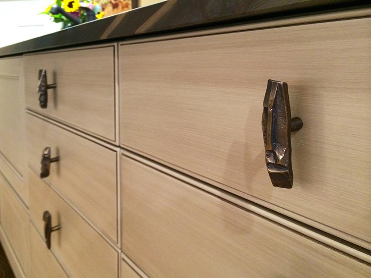 Open Faces Knobs on Cabinets